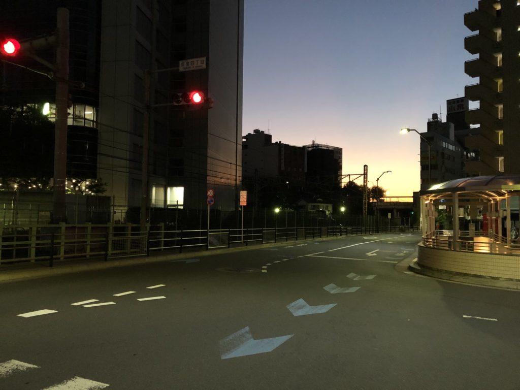 荻窪の夜明け